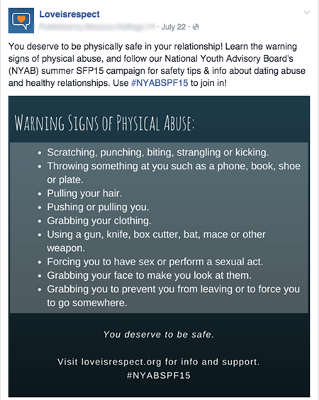 safety tips for dating abuse